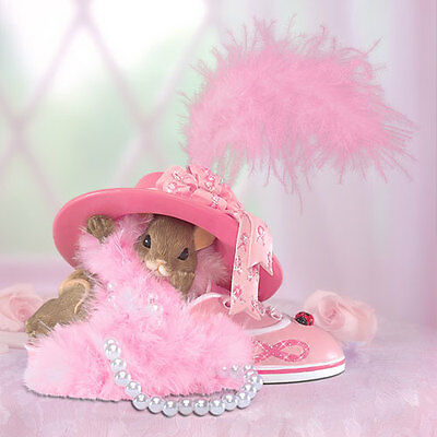 Sole-ly Devoted To You Charming Tails Figurine Bradford Exchange Breast Cancer