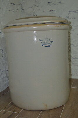 Antique~Ceramic 30 Gallon Crock w/Lid~~Make an Offer