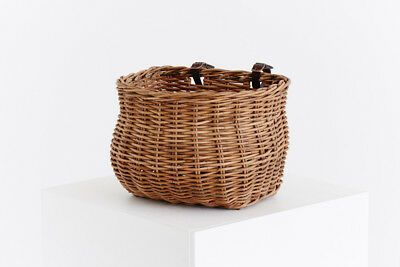 Dhvani Kos Cane Bicycle Basket - Natural