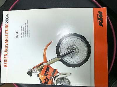 Owners Hand Book Ktm 85 Sx 2004 Pn 321075