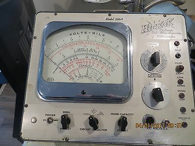 Giant Hickok 209A Vacuum tube Voltmeter Ohm meter tester