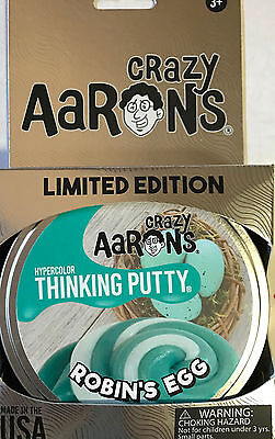 Robin's Egg Hypercolor Crazy Aaron's Thinking Putty Limited Large 4 inch tin 3.2