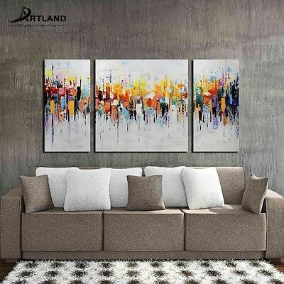 Gallery-wrapped Oil Painting on Canvas Hand-painted Art 'Crazy City'—ARTLAND