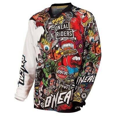 Oneal 2017 Mayhem Crank Jersey Dirt Bike Clothing Top Adult Black/multi