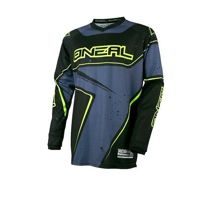 Oneal 2017 Element Racewear Jersey Dirt Bike Clothing Top Adult Blk/grey/hi Viz