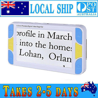 """5"""" 4-30X Video Digital Magnifier Electronic Accurate Reading Aid Color Mode Zoom"""