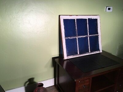 Antique Stained Glass Blue Church Window