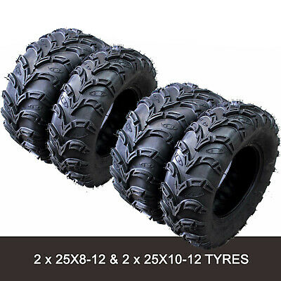 6 ply 2 * 25x8-12  2 * 25x10-12 Tire/Tyre Yamaha Grizzly 350 450 550 700 UTV ATV