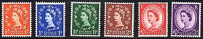 1957 Sg 561/6 Wilding St Edward's Crown Graphite Lined Issue Unmounted Mint Set