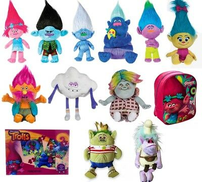 "New Official 15"" Dreamworks Trolls Plush Soft Toy Poppy Troll Christmas"
