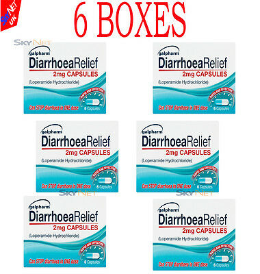 36x Diarrhoea Relief 2mg Capsules Rapid Effect LOPERAMIDE HYDROCHLORIDE Tablets
