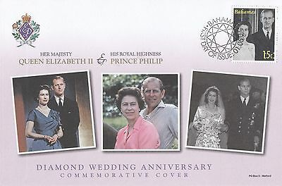 (95506) Bahamas FDC Queen Elizabeth II Diamond Wedding 2007