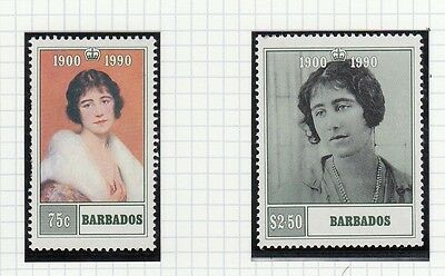 (74867) Barbados MNH Queen Mother 90th Birthday 1990 unmounted mint