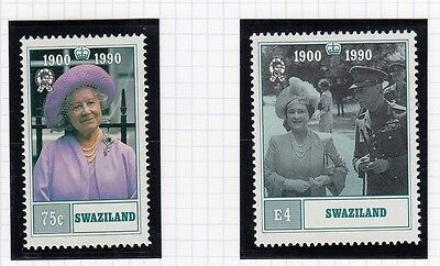 (74863) Swaziland MNH Queen Mother 90th Birthday 1990 unmounted mint