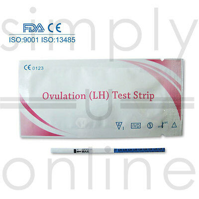100 x ULTRA sensible OVULATION / analyse d'URINE de fertilité TEST bandelettes