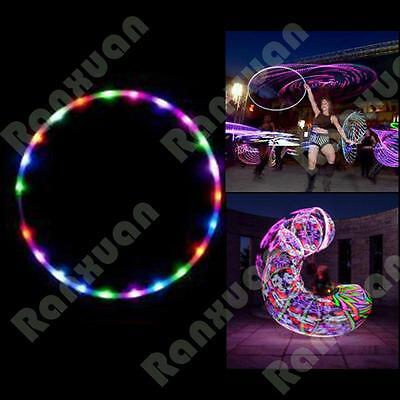 New 24 lights Colorful lights Colorful 90CM light flash LED hula hoop fitness