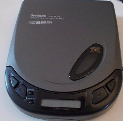 GOODMANS PERSONAL CD PLAYER (GCD 41XP) dynamic base boost system TESTED