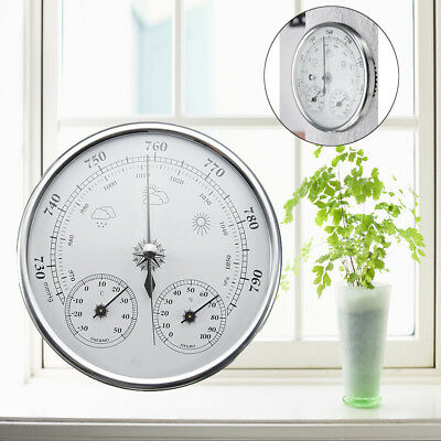130mm Wall Hanging Weather Thermometer Hygrometer Barometer -30~50℃ 0~100%Rh