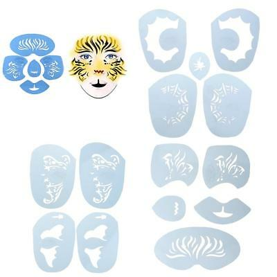 1 Set Blue Face Painting Body Art Stencils Template Tool for Festival Makeup