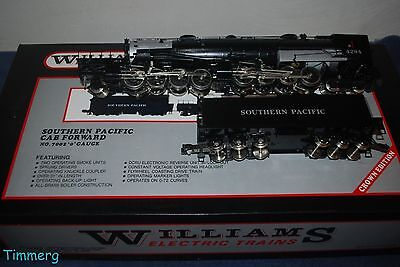 Williams 7002 Cab Forward Southern Pacific 2-8-8-4 Steam Locomotive & Tender **