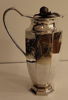 Antique Silver Octagon Water Pitcher With Lid No Reserve Look Rare Very Nice!!!