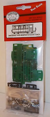 Parkside Dundas 009 DM69 - Brake Third Observation Bogie Coach Kit - New.(009)