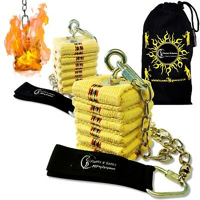 Pro CATHEDRAL Wick Fire Poi - Professional Kevlar Fire Poi Set + Travel Bag!