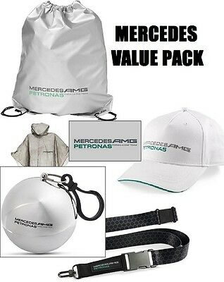 VALUE Bag Cap Kappe Poncho Lanyard Formula One 1 Mercedes AMG Petronas F1 DE