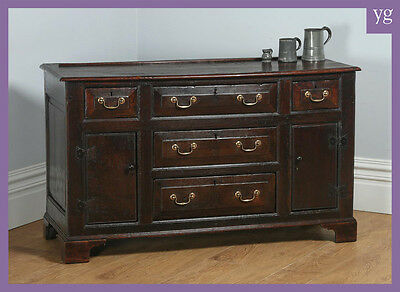 Antique Welsh Georgian Country Bog Oak Sideboard Dresser Base Cupboard Server