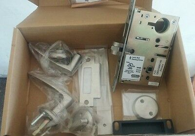 STANLEY Lever Lockset Mechanical Privacy Grade Mortise QMS140A619 Satin Nickel