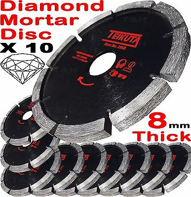 "10 Mortar Raking Disc 115mm 41/2"" Diamond Mortar Raking Blade Angle Grinder Disc"