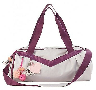 Capezio Girl's Totally Charming Dance Duffle Bag Poppin Grey One Size - B158