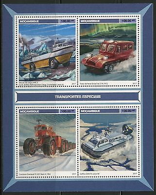 Mozambique 2017  Special Transport Sheet  Mint Nh