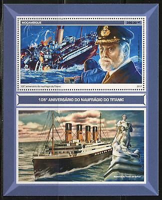 MOZAMBIQUE 2017 105th ANNIVERSARY OF THE  SINKING OF THE TITANIC S/SHEET MINT NH