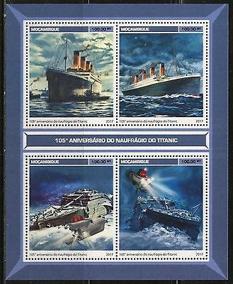 MOZAMBIQUE 2017 105th ANNIVERSARY OF THE  SINKING OF THE TITANIC SHEET MINT NH