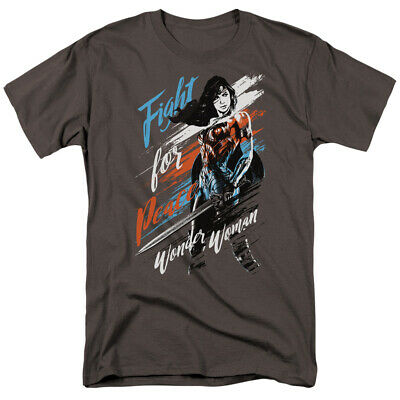 Wonder Woman Movie Fight For Peace Licensed Adult T Shirt