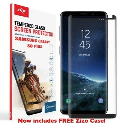 ZIZO TEMPERED GLASS Case Friendly Bk Screen Protector For Samsung Galaxy S8 Plus