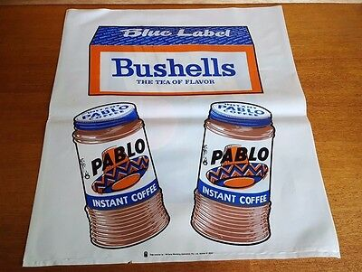 Vintage Bushells Tea Pablo Instant Coffee Advertising Display Bag Collectable