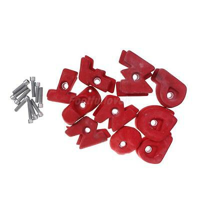 10Pcs Red Climbing Hand Holds Screw On Holds Bolt On & Hardware Accessories