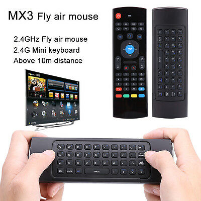 Wireless IR Keyboard Airmouse Remote Control Keypad For Andriod TV Box HTPC PC