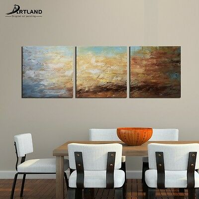 Large Abstract Oil Painting Modern Hand-painted Framed  Wall Art Set on Canvas