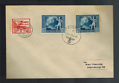 1944 Occupied Jersey Feldpost Cover to Hamburg Germany Mixed Franking