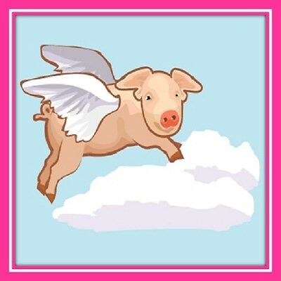 30 Custom When Pigs Fly Art Personalized Address Labels