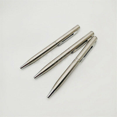 Stainless Steel Pen Ball Point Office Ballpoint Writing Student Stationery New
