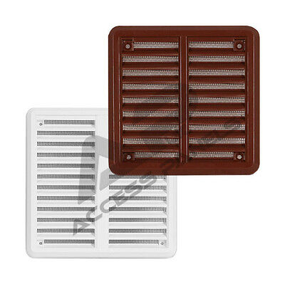 Air Vent Grille Covers Louvre Ventilation Grill Cover  ALL SIZES  White & Brown