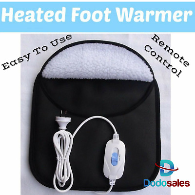 Electric Heated Foot Warmer Heating Feet Slipper Style Heat Relax Mum Gift NEW