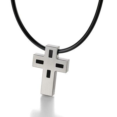 TeNo KyRa Men's Cross Pendant 044.2200.D21 Stainless steel