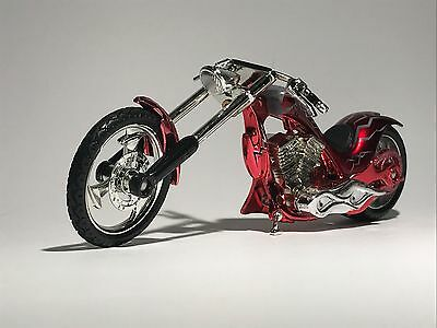CHOPPER IRON MOTORBIKE scale 1:18 flame tank diecast model toy bike car