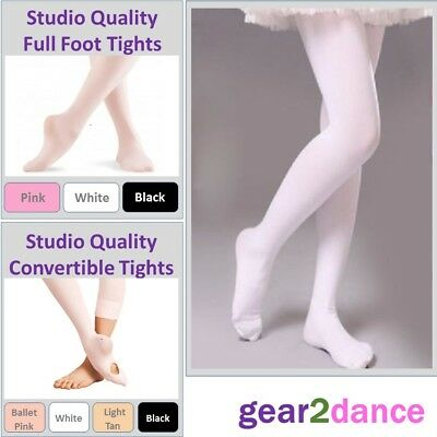 Studio Quality 90 Denier Girls Dance Tights Ballet Tap Modern NEW From UK Stock