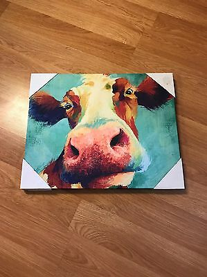 Smiling Cow Canvas Dollar General Cow Picture